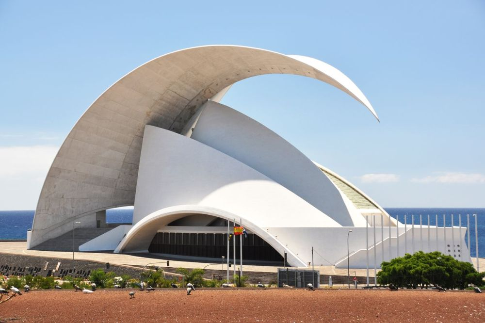 The contemporary Auditorio de Tenerife